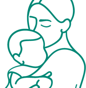 Parent child green icon
